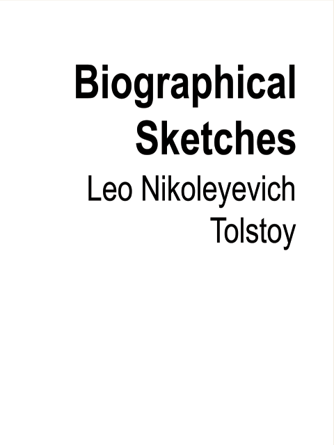 Biographical Sketches