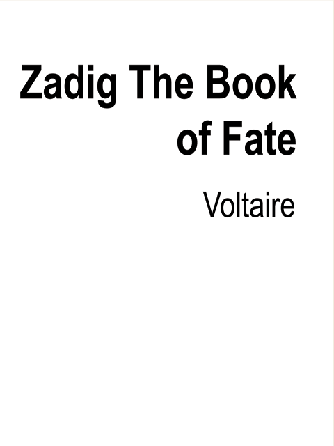 Zadig The Book of Fate
